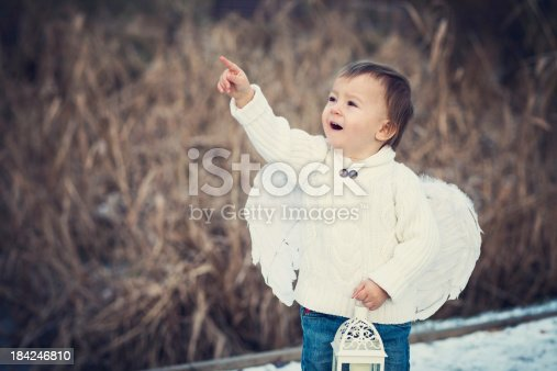 istock Boy with angel wings 184246810