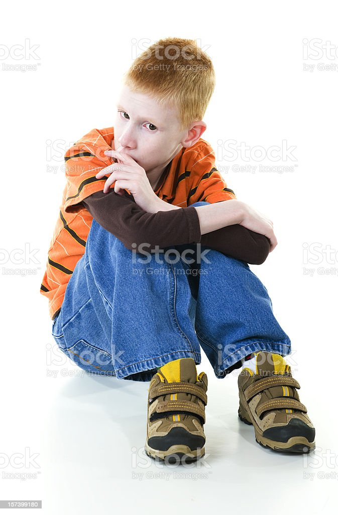 Boy with Autism stock photo