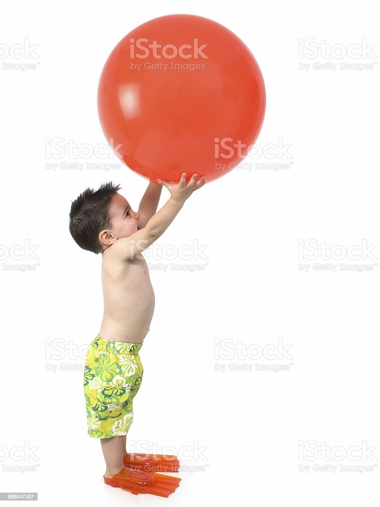Boy with Ball royalty-free stock photo
