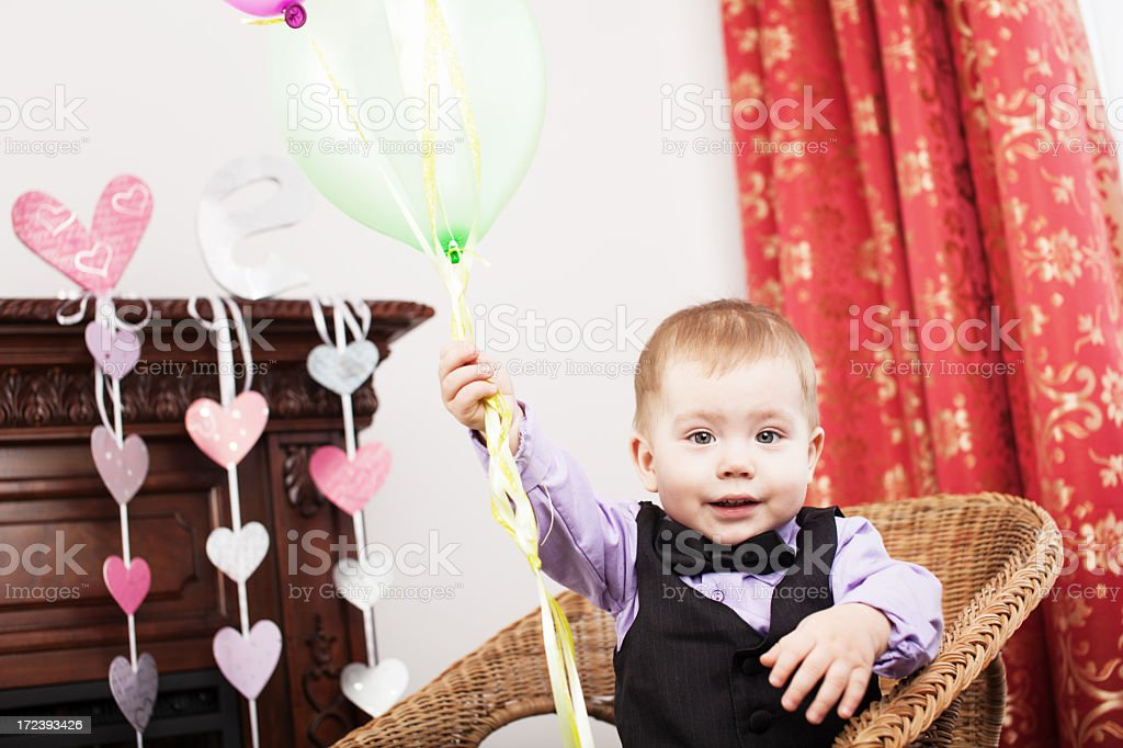 boy with baloons royalty-free stock photo