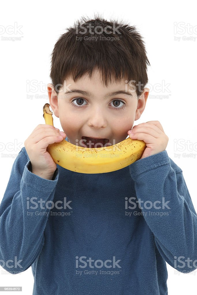 Boy with Banana - Royalty-free 4-5 Years Stock Photo