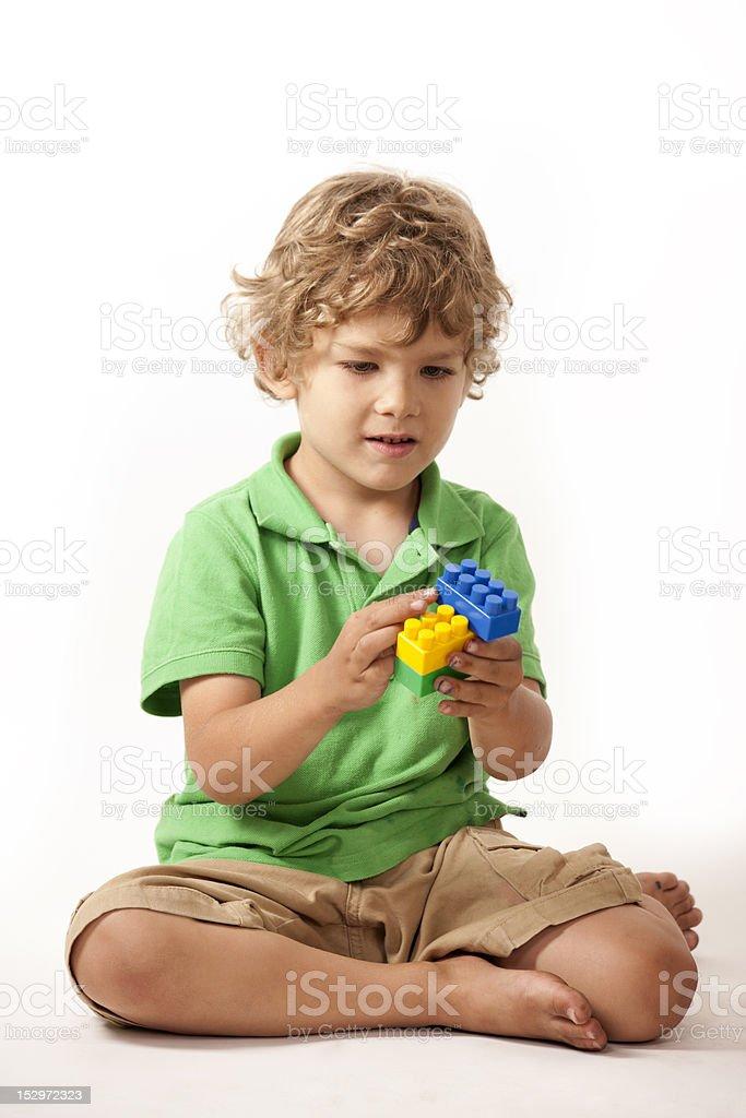 Junge mit block – Foto