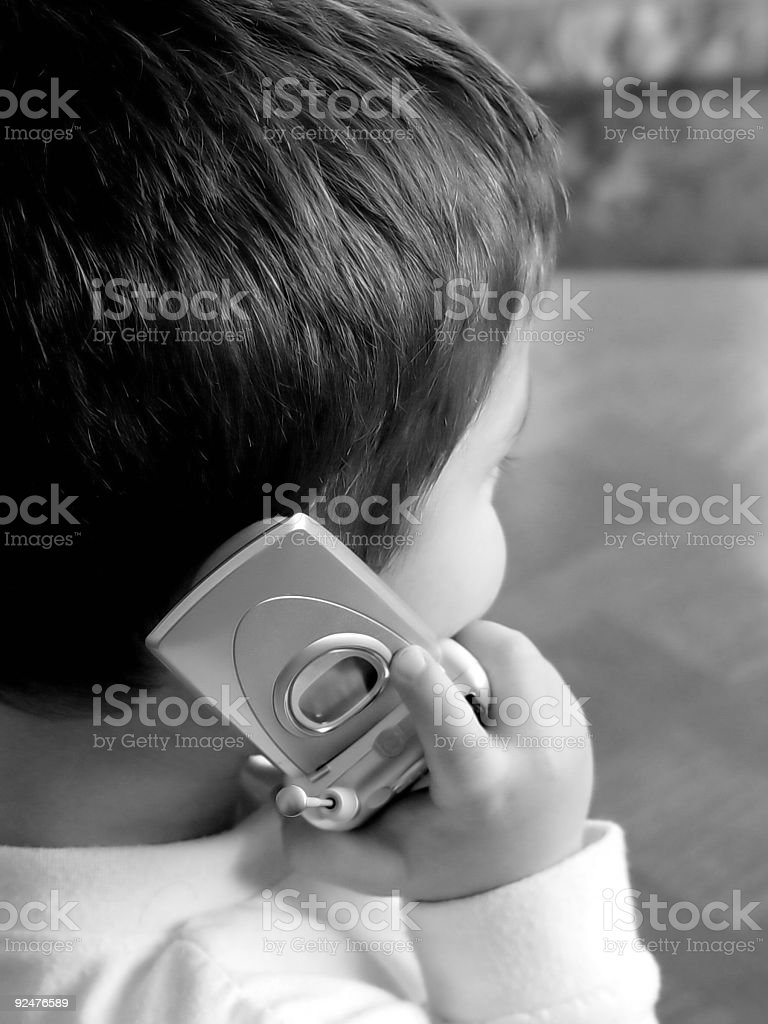 Boy With Cellular Phone royalty-free stock photo