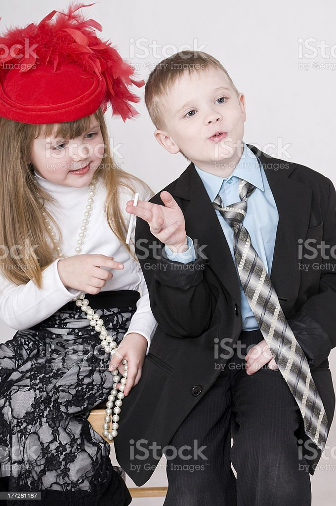 boy with cigarette royalty-free stock photo