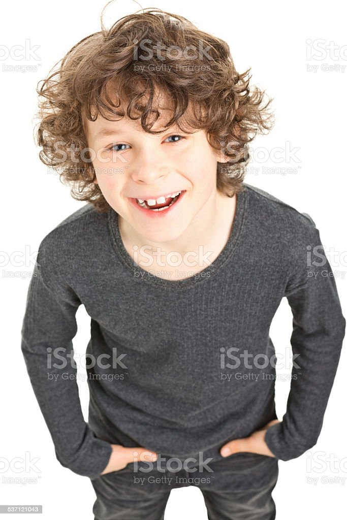 Boy With Curly Hair Stock Photo Download Image Now Istock