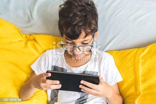 Family, Digital Tablet, Boys, Playing, Sofa