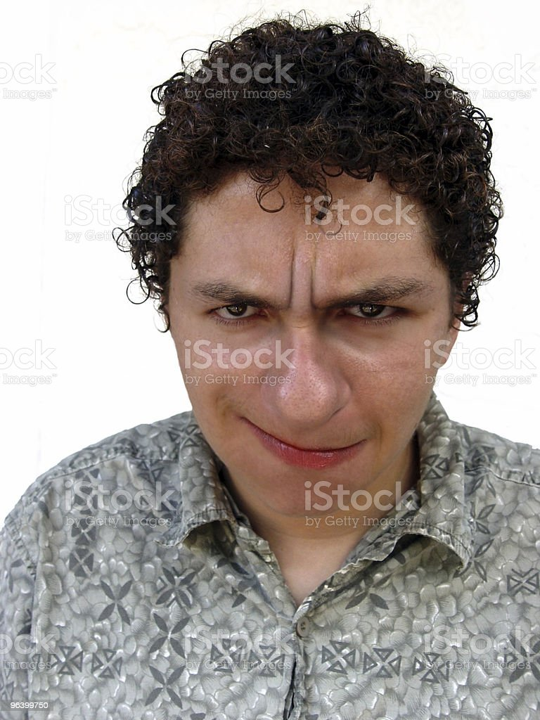 Boy with funny face royalty-free stock photo