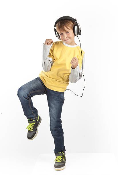 Junge mit Kopfhörer – Foto