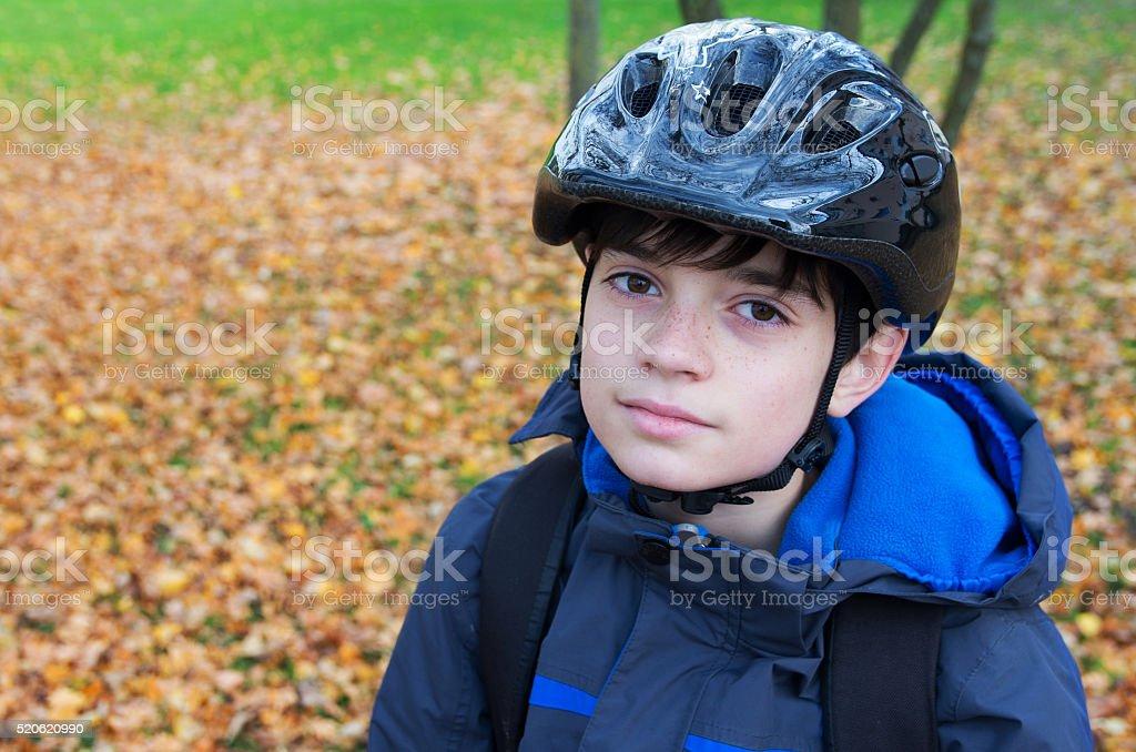 Boy with helmet royalty-free stock photo