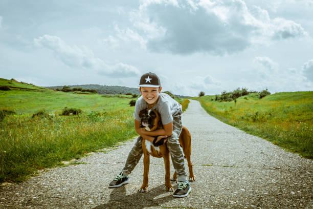 Boy with his dog outdoors picture id1028351992?b=1&k=6&m=1028351992&s=612x612&w=0&h=vvcjchpgnk usdzhb0x1jo51lxduqh3fdzbf 2aiwzc=