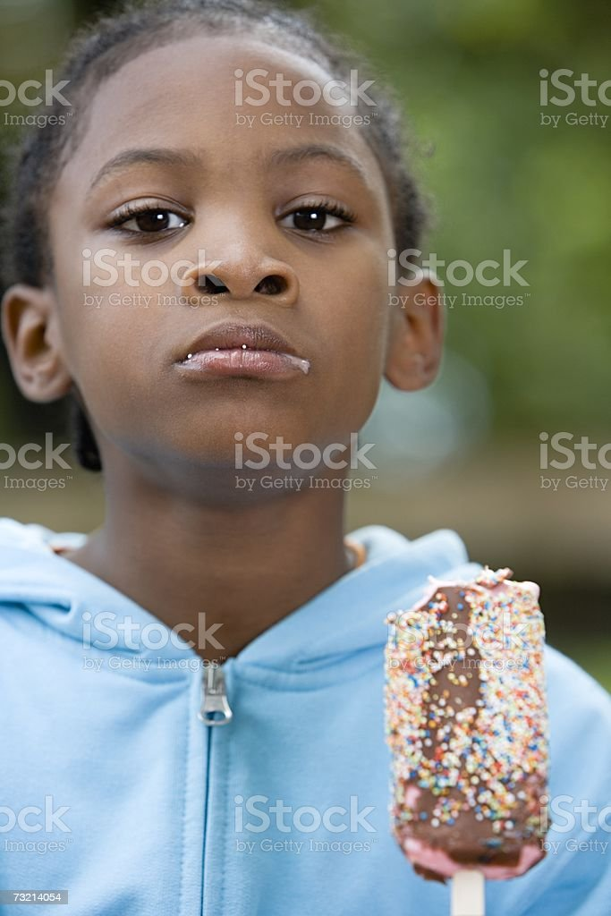 Boy with ice cream royalty-free stock photo