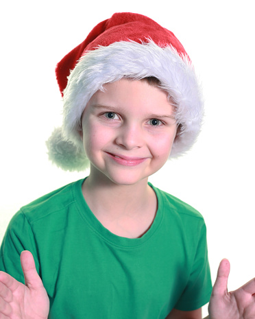Boy With Santa Hat Clapping
