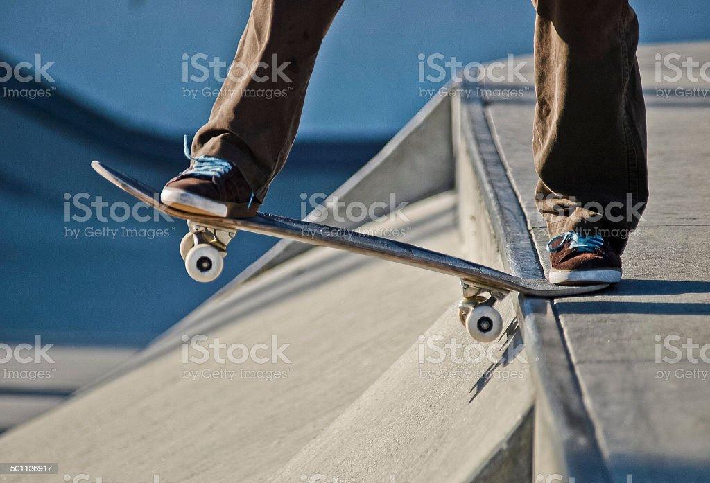 Ragazzo con lo skate negli USA stock photo