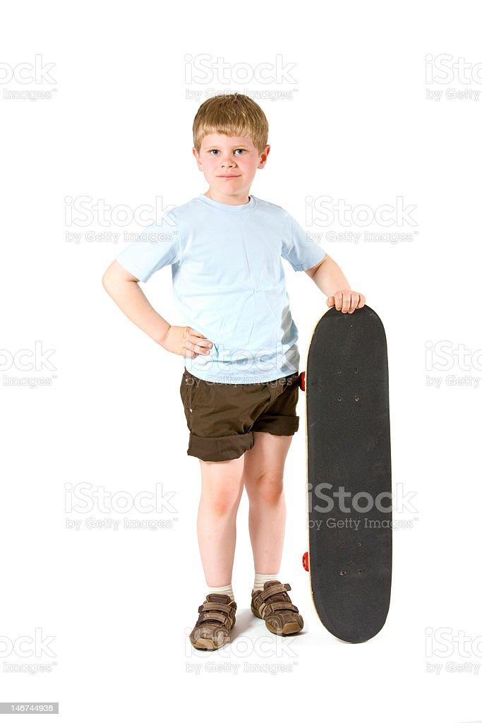 Boy with skateboard royalty-free stock photo