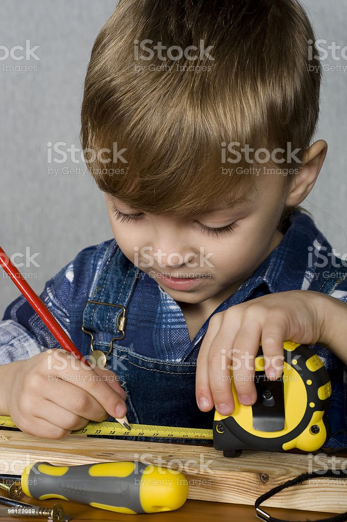 Boy with tools royalty-free stock photo