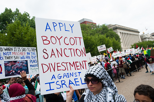 Boycott Divestment And Sanction Israel Stock Photo - Download Image Now