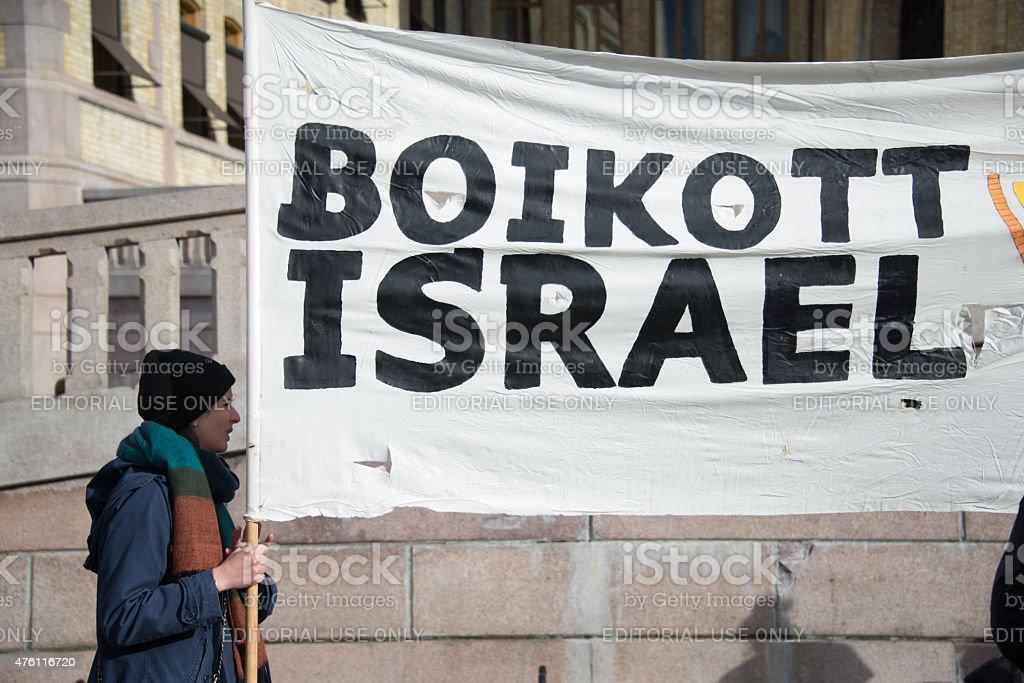 Boycott Israel protest stock photo