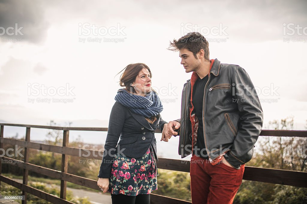 Boyfriend and a girlfriend foto royalty-free