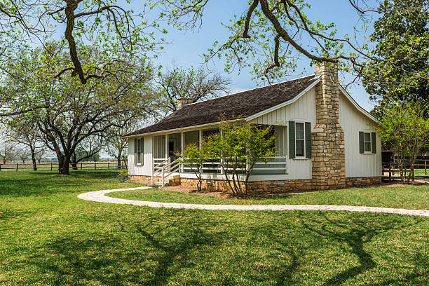 boyhood home of Lyndon B. Johnson National Historic Park Lyndon B. Johnson National Historic Park - birthplace southern usa stock pictures, royalty-free photos & images