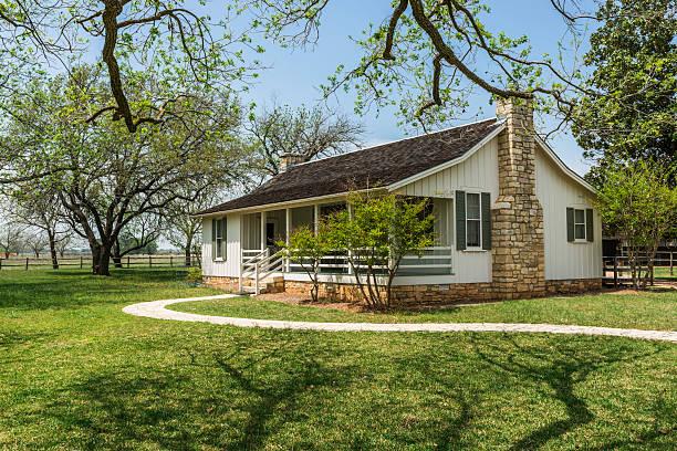 casa de lyndon b. johnson parque histórico nacional - cena rural - fotografias e filmes do acervo