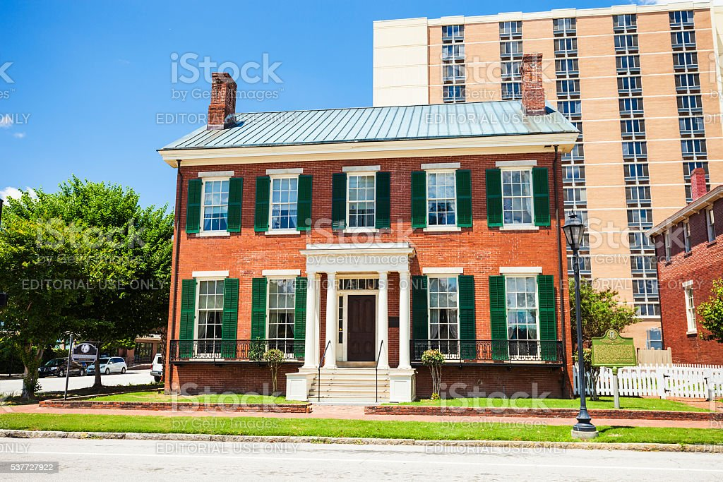Boyhood Home Of Woodrow Wilson In Augusta, Georgia stock photo