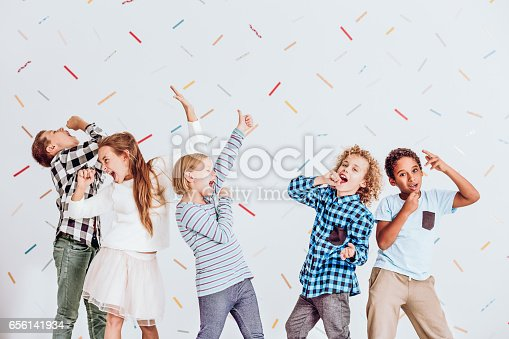 istock Boys and girls singing 656141934