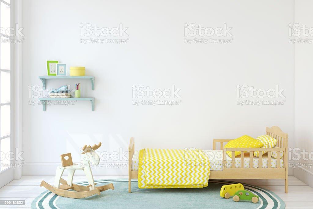 Boy's bedroom. stock photo