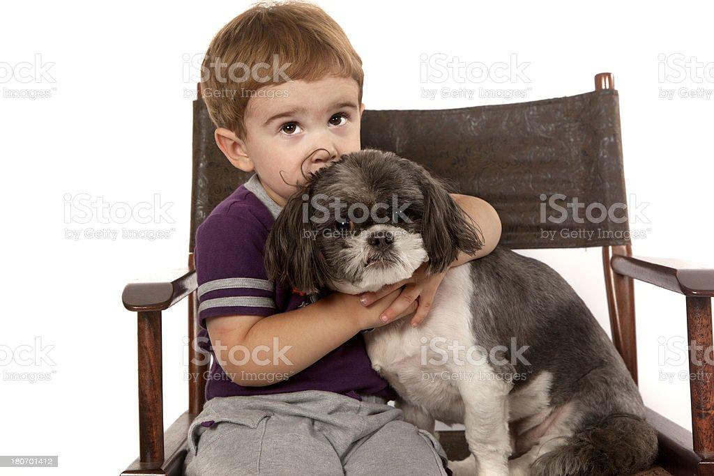 Boys Best Friend royalty-free stock photo