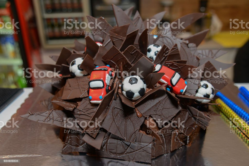 Boys Birthday Cake Car Stock Photo More Pictures of Backgrounds