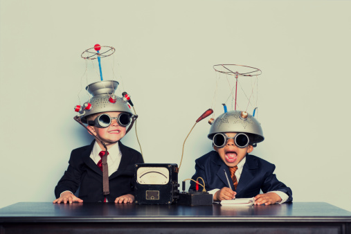 Two young boys are ready to dive into the brain of your business. Analyze that.