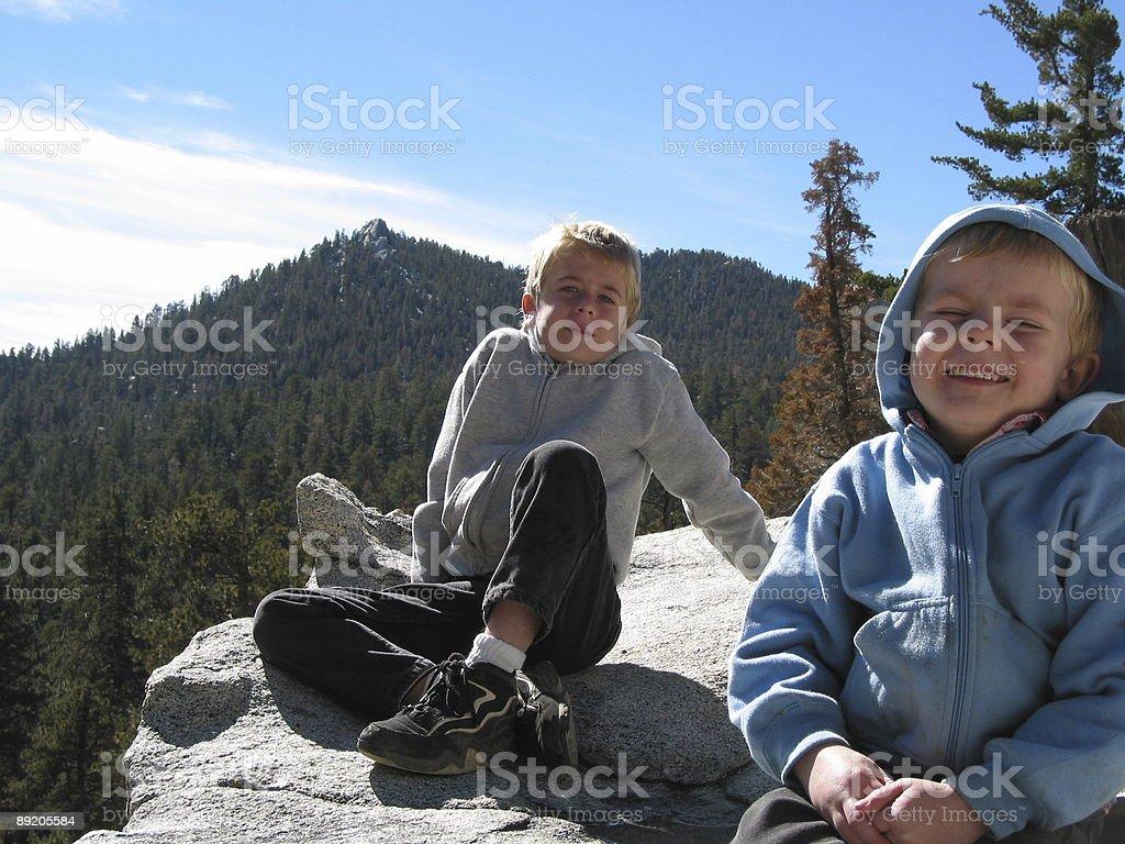 Boys Enjoying Life in Backwoods royalty-free stock photo