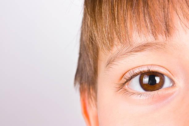 Boy's eye stock photo