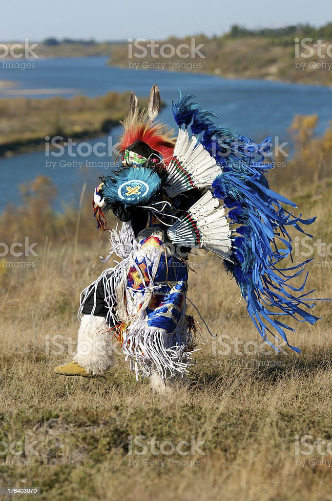 Boys Fancy Dancer Regalia stock photo