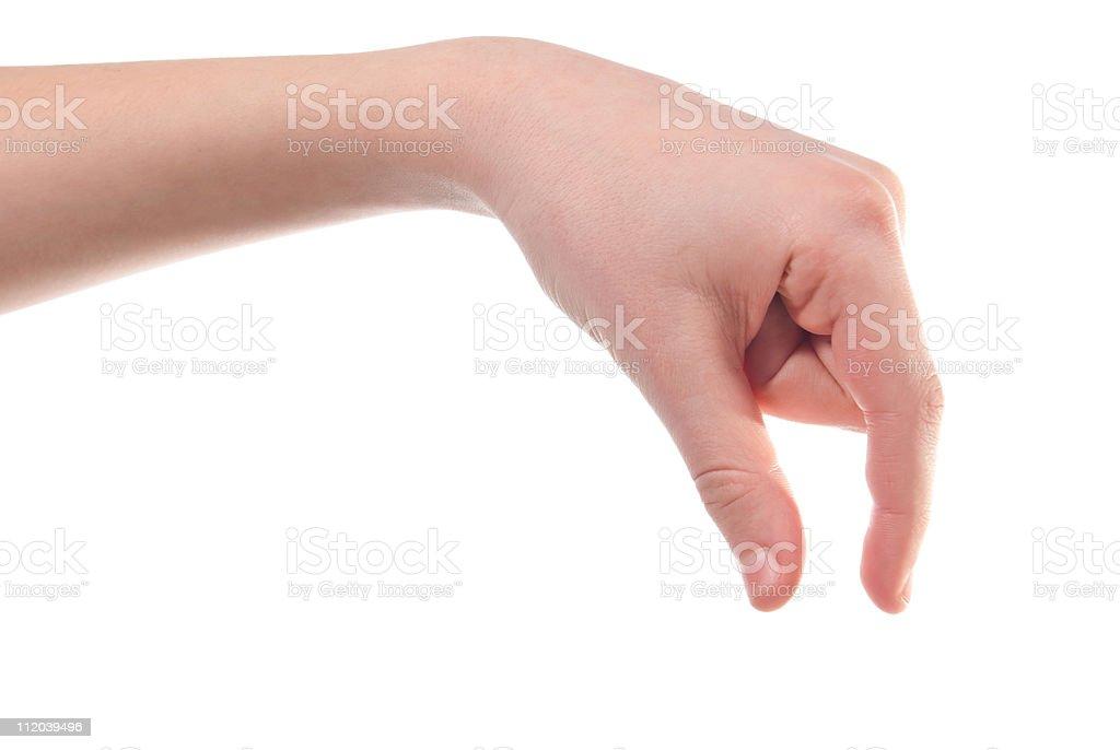 Boy's hand stock photo