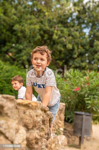 Boys having fun at the park