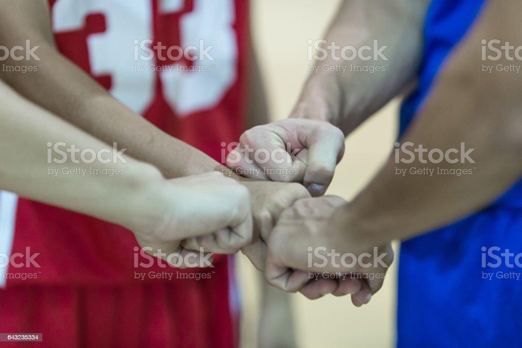Boys high school basketball team: stock photo