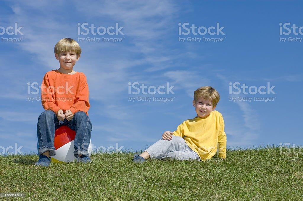 Boys in the Sunshine stock photo