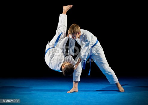 istock Boys martial arts fighters isolated 623924222