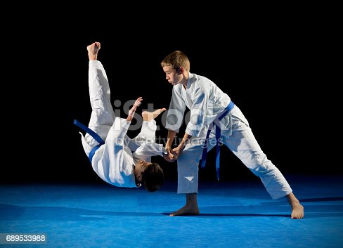 istock Boys martial arts fighters 689533988
