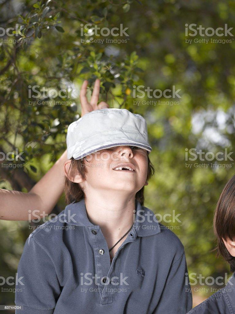 boys mucking around royalty-free stock photo
