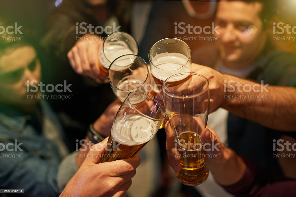 Boys' night stock photo