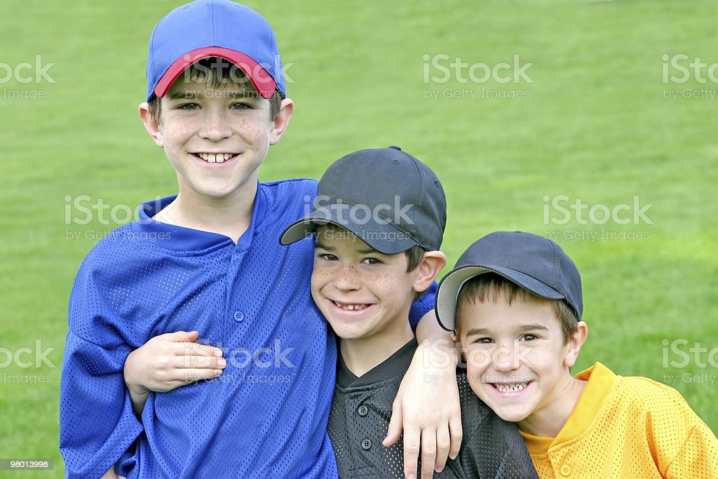 Boys On Game Day royalty-free stock photo