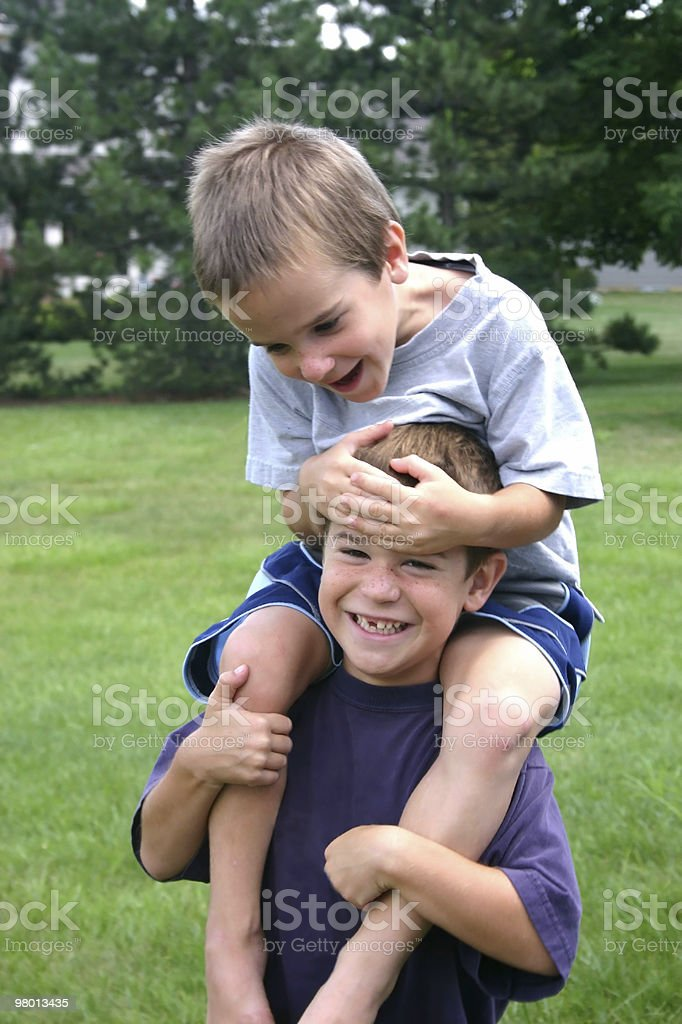 Boys on Shoulders royalty-free stock photo
