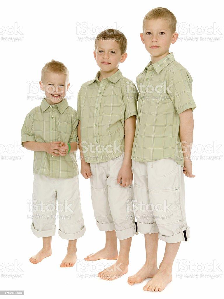 Boys Portrait - Smallest to Tallest royalty-free stock photo