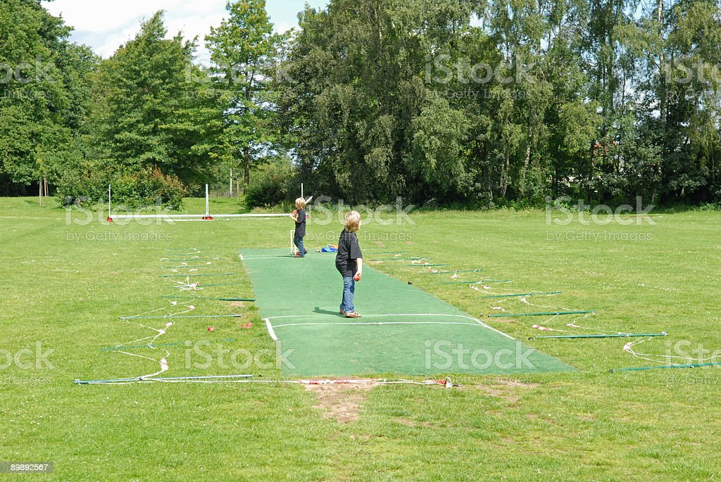 Boys practising on the pitch royalty-free stock photo