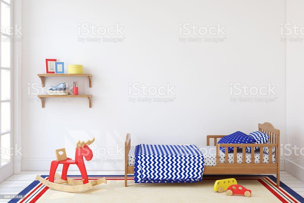 Boy's room. stock photo