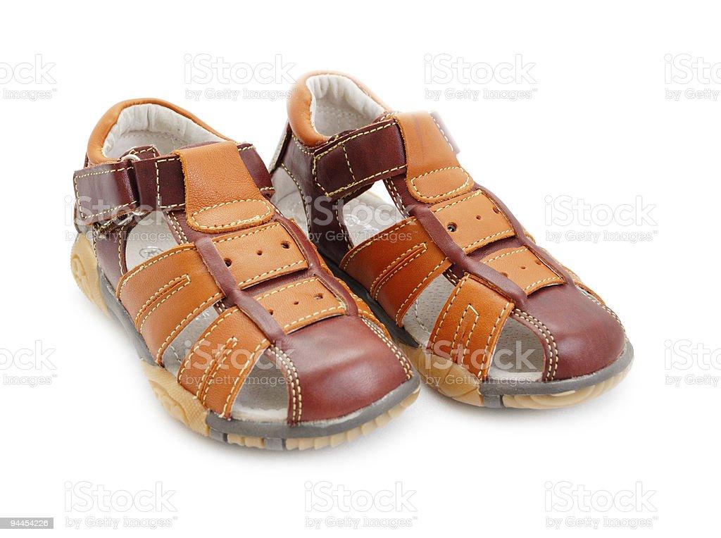 Meninos sandals - foto de acervo
