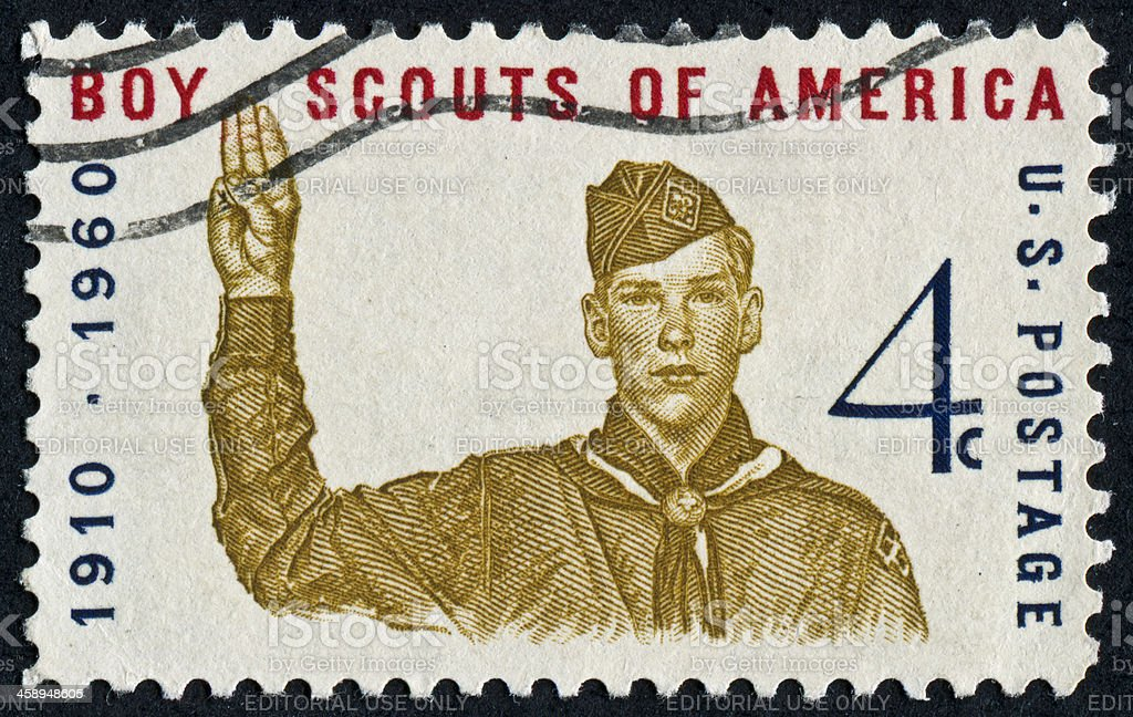 Boys Scouts Of America Stamp stock photo
