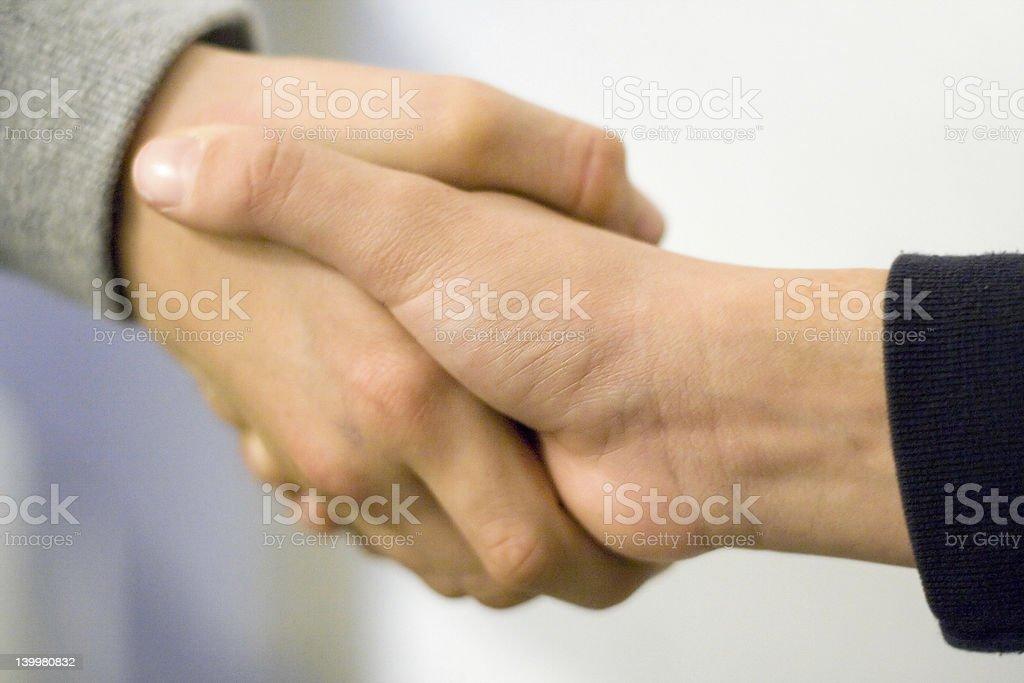 Boys Shaking Hands royalty-free stock photo