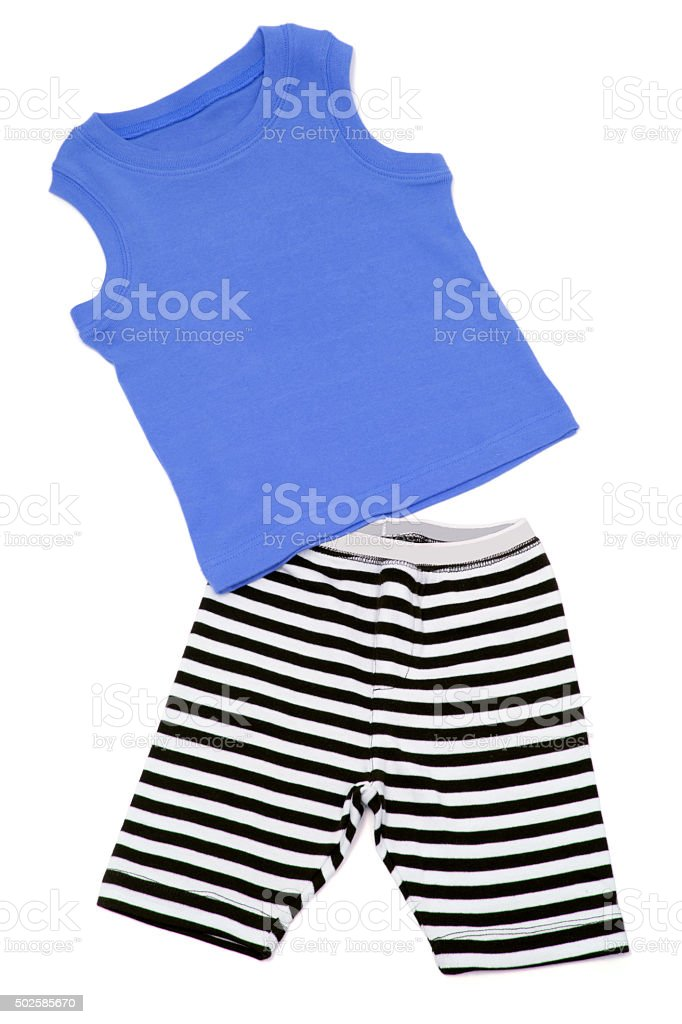 Boy's Shorts and Singlet stock photo